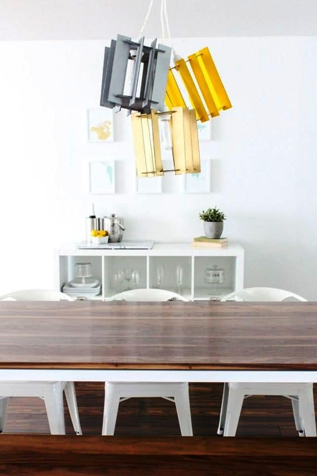 Cardboard Pendant Light | DIY Pendant Lighting Projects