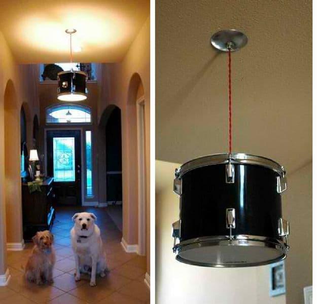 Drum Shade Pendant Light | DIY Pendant Lighting Projects