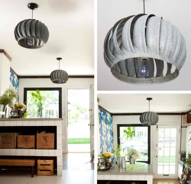 Turbine Pendant Light | DIY Pendant Lighting Projects