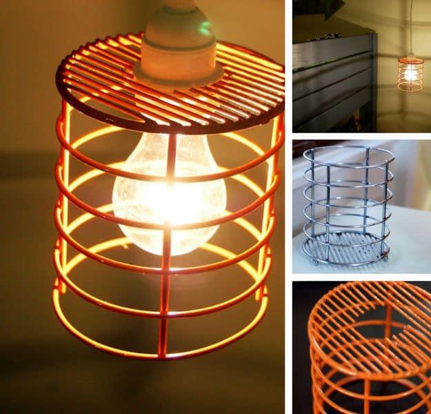 Utensil Holder Pendant Light | DIY Pendant Lighting Projects