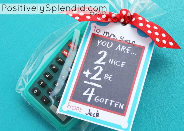 Personalized Calculator | DIY Teacher Gifts To Ring In The New School Year