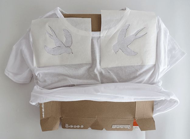Step 4: Slip A Piece Of Cardboard | How To Design Your Own Shirt