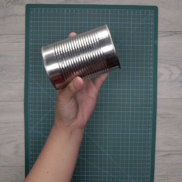 Step 1: Start With An Empty Tin Can | How To Make A DIY Pencil Holder