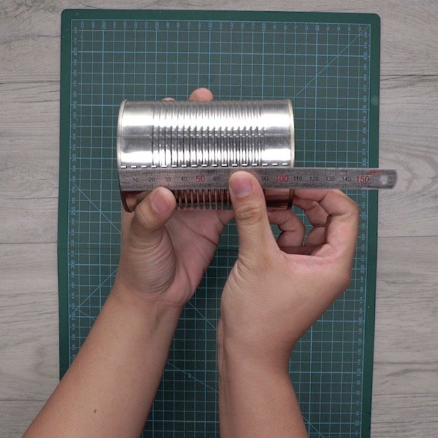 Step 2: Measure The Height Of Your Can | How To Make A DIY Pencil Holder