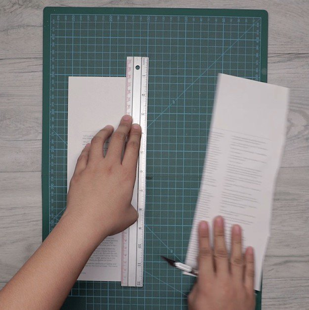 Step 4: Use Your X-Acto Knife To Cut Your Paper | How To Make A DIY Pencil Holder