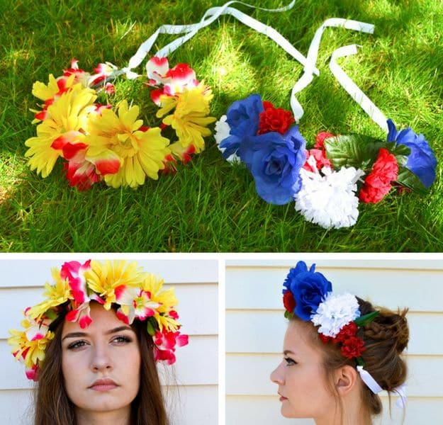 DIY Flower Crowns | Easy Crafts To Make And Sell