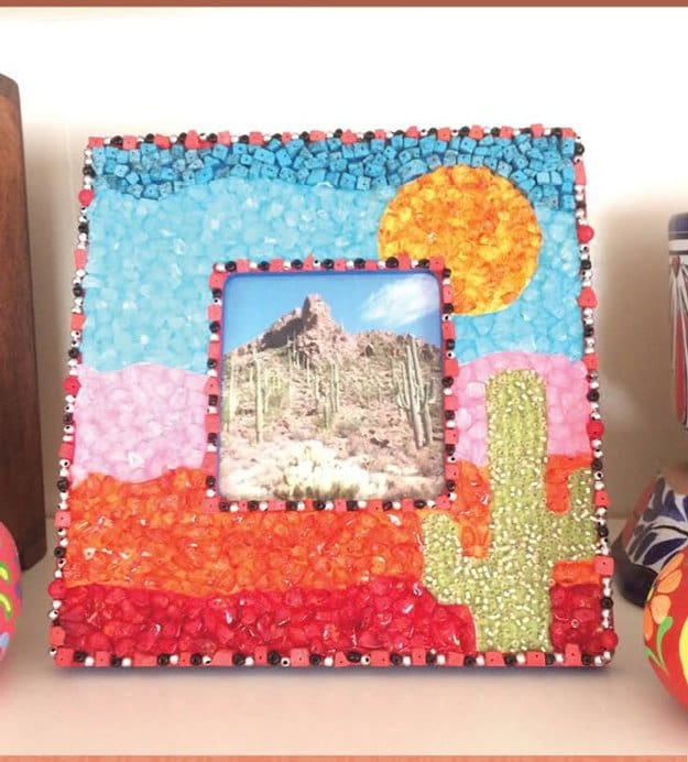 DIY Picture Frame With Mosaic Tiles | Easy Crafts To Make And Sell