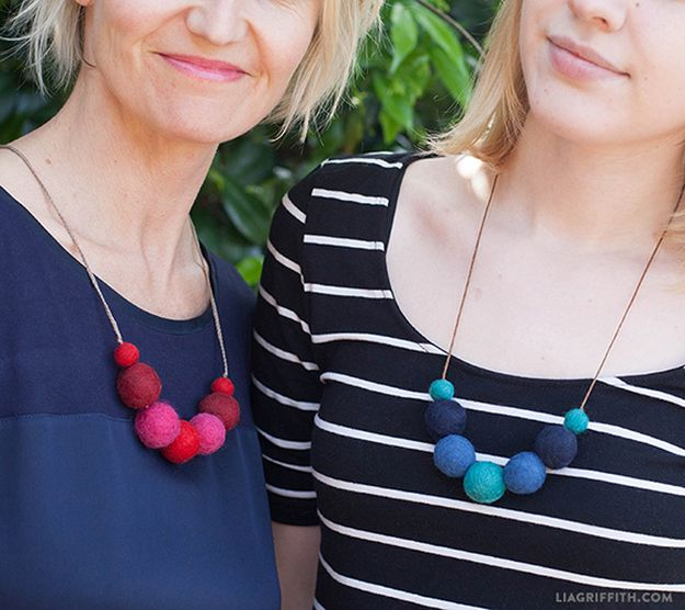 Felt Ball Necklaces | Easy Crafts To Make And Sell