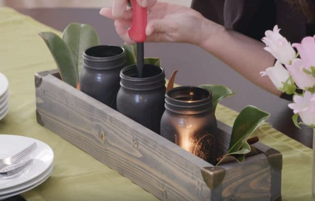 Step 6: Decorating | Young House Love Must-Try DIY | Rustic Centerpiece Box