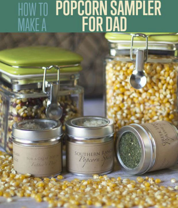 Rustic Popcorn Sampler | Cool DIY Father's Day Gift Ideas