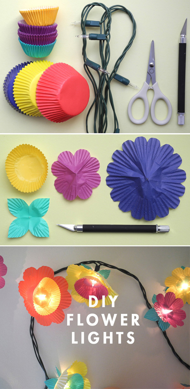 Cute Diy Room Decor Ideas For S Bedroom Projects Agers Flower Art