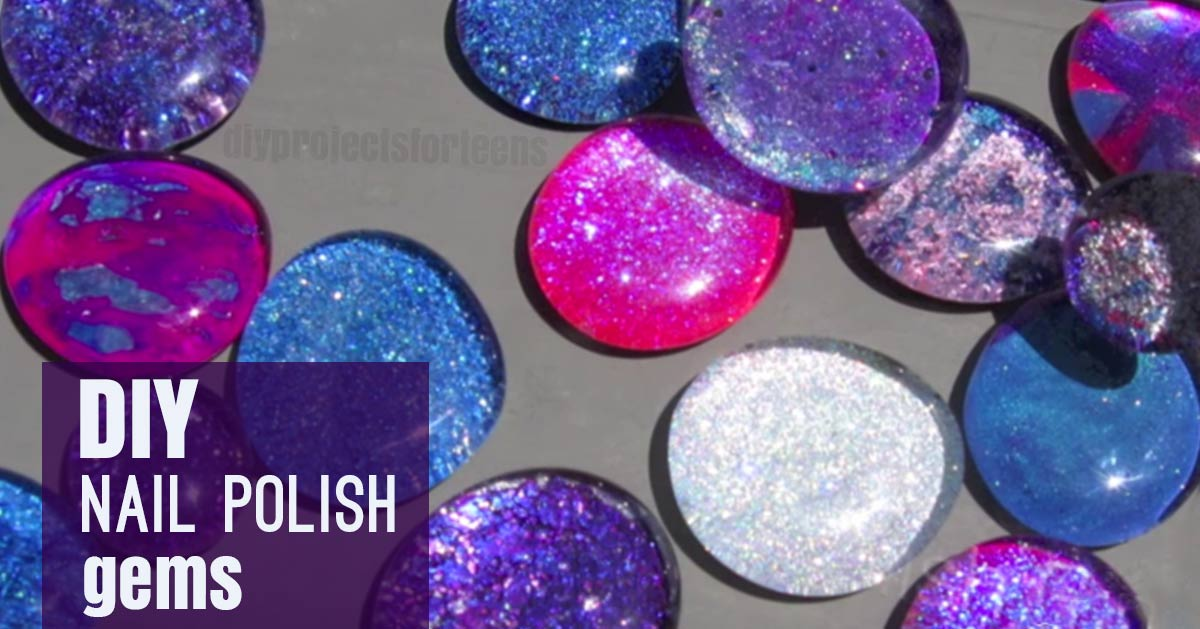 Diy Nail Polish Gems For Jewelry Cool Crafts S And Tweens