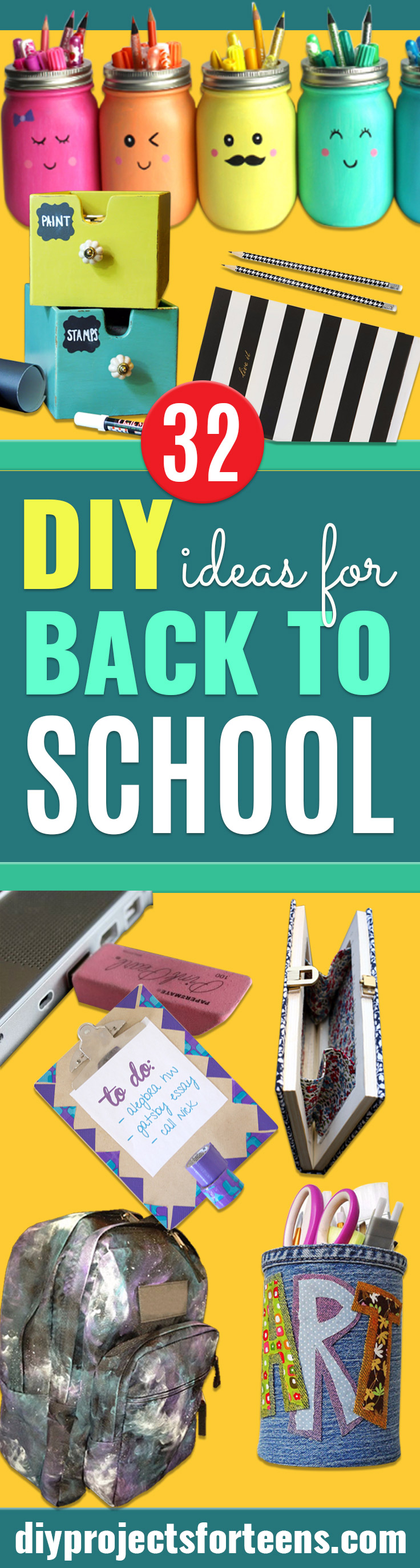32 DIY Ideas For Back To School Supplies DIY Projects