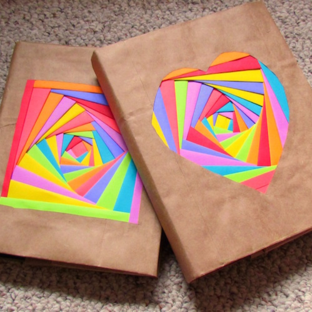 DIY School Supplies You Need For Back To School - Colorful Bookcovers - Cuter, Cool and Easy Projects for Teens, Tweens and Kids to Make for Middle School and High School. Fun Ideas for Backpacks, Pencils, Notebooks, Organizers, Binders http://diyprojectsforteens.com/diy-school-supplies