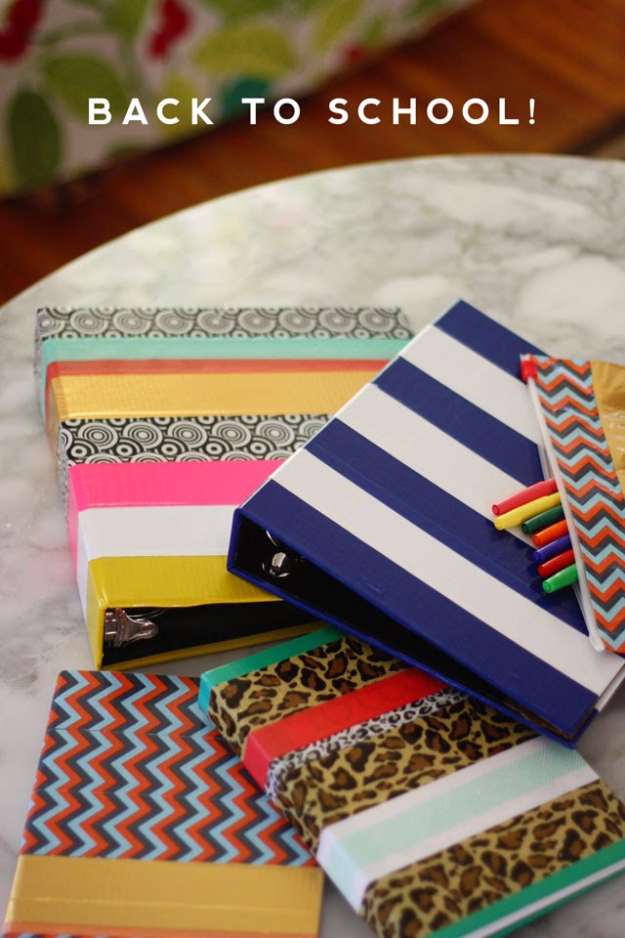 School Supply Makeover With Tape