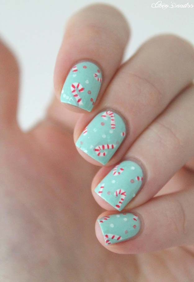 Cool Diy Nail Art Designs And Patterns For Christmas Holidays Candy Canes