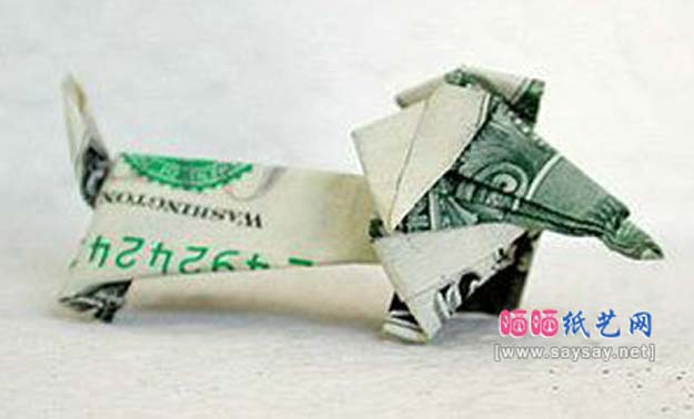 Money Origami Step By Instructions Tutorial Origami Handmade