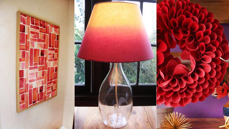 30 Brilliant Red DIY Room Decor Ideas