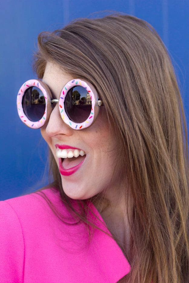 Cool Summer Fashions for Teens - DIY Donut Sunglasses - Easy Sewing Projects and No Sew Crafts for Fun Fashion for Teenagers - DIY Clothes, Shoes and Accessories for Summertime Looks - Cheap and Creative Ways to Dress on A Budget http://diyprojectsforteens.com/diy-summer-fashion-teens