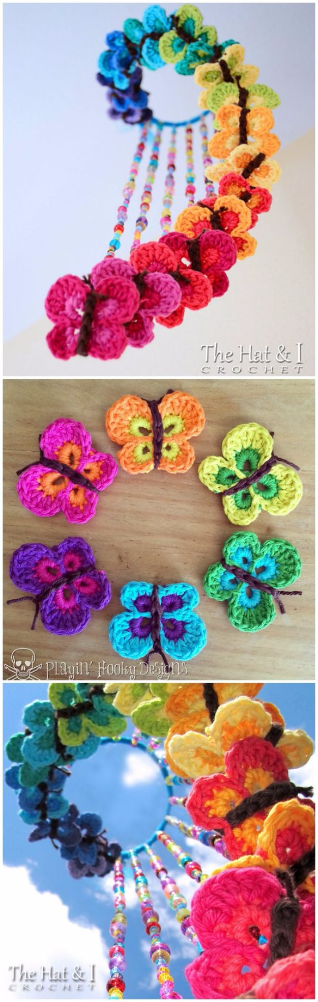 DIY Ideas With Butterflies - Crochet Butterfly Mobile - Cute and Easy DIY Projects for Butterfly Lovers - Wall and Home Decor Projects, Things To Make and Sell on Etsy - Quick Gifts to Make for Friends and Family - Homemade No Sew Projects- Fun Jewelry, Cool Clothes and Accessories #diyideas #butterflies #teencrafts