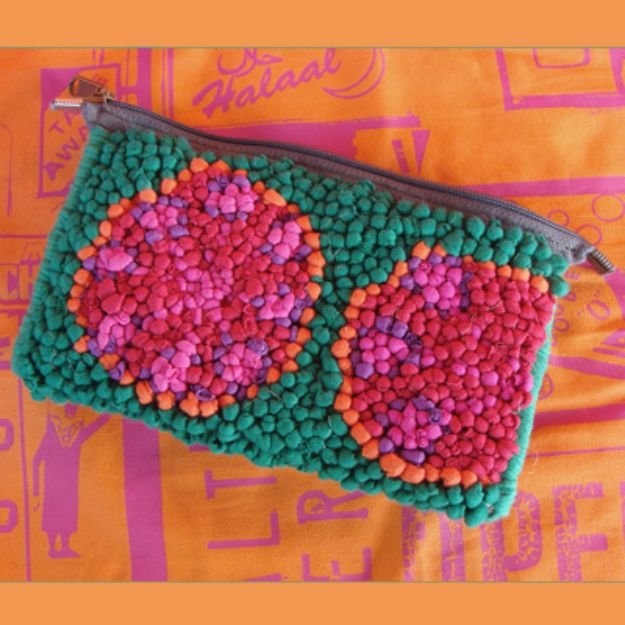 DIY Ideas With Old T-shirts - Multi Colored Pouch - Tshirt Makeovers and Transformation Ideas for Tee Shirts - DIY Clothes to Make On A Budgert - Creative and Easy Fashion Ideas for Teen Girls, Teenagers, Adults - Cut and Refashion Your Shirts With These Step by Step Tutorials #teencrafts #tshirtideas #diyclothes #fashion #crafts