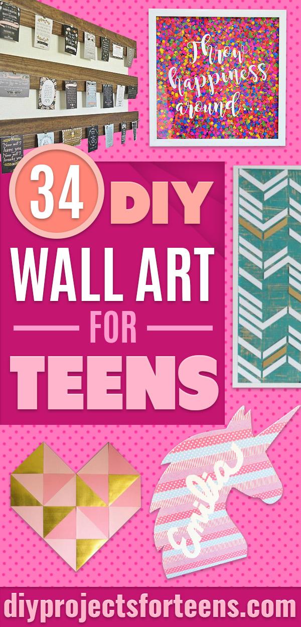 DIY Wall Art Ideas for Teens - Teen Boy and Girl Bedroom Wall Decor Ideas - Goedkope canvasschilderijen en wandkleden voor kamerdecoratie