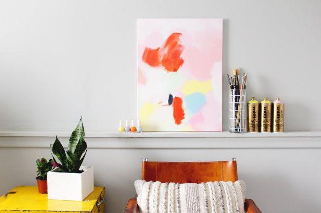 DIY Wall Art Ideas for Teens - Anthropologie Acrylic Wall Art - Teen Boy and Girl Bedroom Wall Decor Ideas - Goedkope canvas schilderijen en wandkleden voor kamerdecoratie