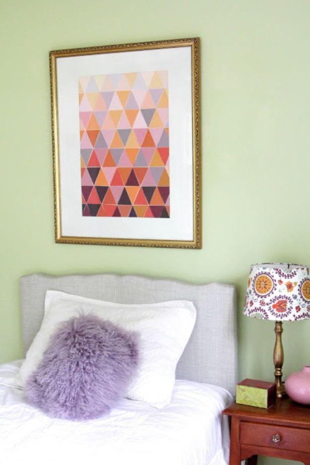 DIY Wall Art Ideas for Teens - Ombre Paint Chip Art - Teen Boy and Girl Bedroom Wall Decor Ideas - Goedkope canvasschilderijen en wandkleden voor kamerdecoratie