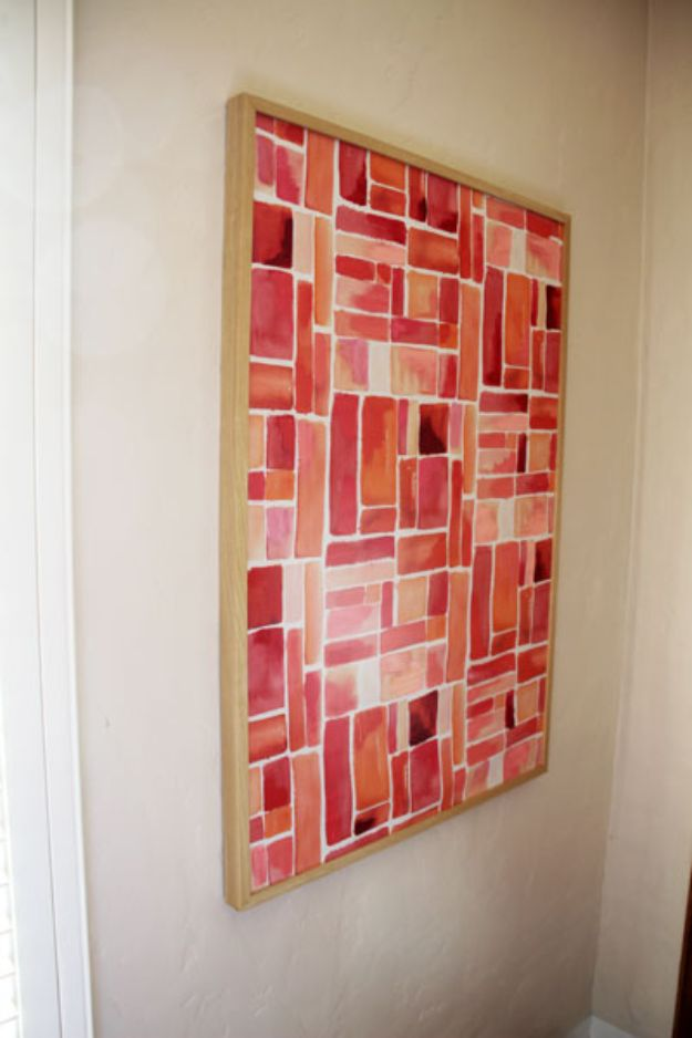 DIY Wall Art Ideas for Teens - Semi-DIY Colorful Canvas Art - Teen Boy and Girl Bedroom Wall Decor Ideas - Cheap Canvas Paintings and Wall Hangings For Room Decoration