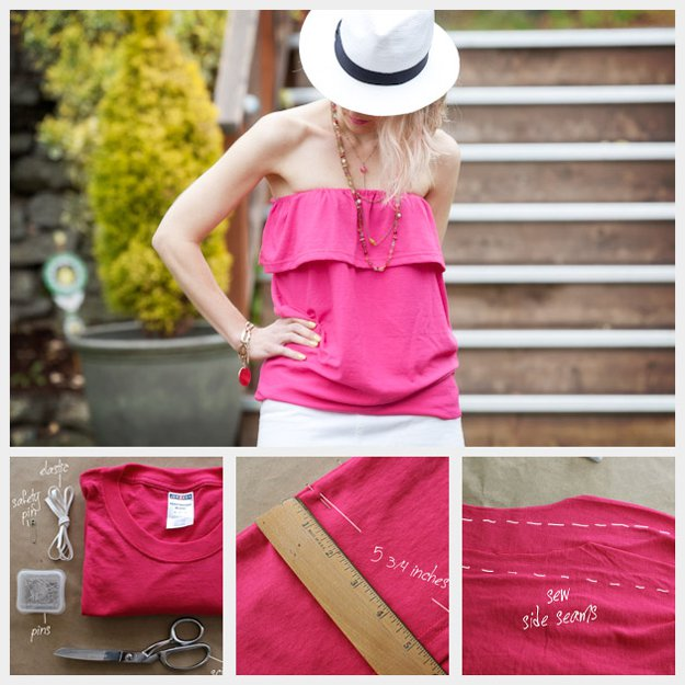 Easy DIY Top Design Tutorial | diyready.com/diy-clothes-sewing-blouses-tutorial/