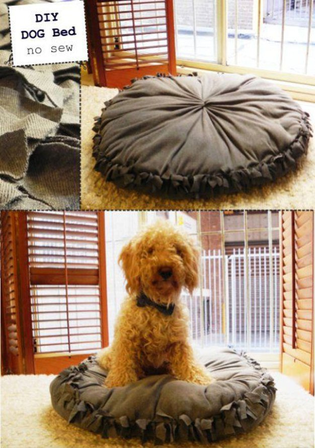 DIY Dog Bed Pillow