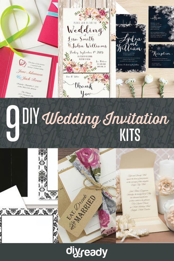 Mason Jar Wedding Invitation Kits