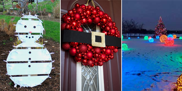 18 Easy And Cheap DIY Outdoor Christmas Decoration Ideas