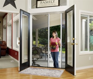 Custom Double Panel Retractable Screen Door Kit