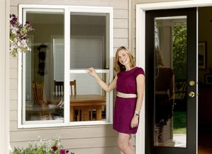 Custom Retractable Window Screen - Extra Tall