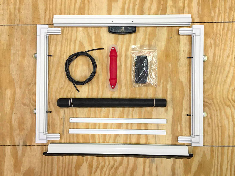 Custom HD Patio Screen Door Kit Assembly - DIY Screens Direct