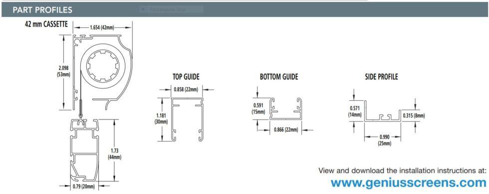 Custom Retractable Screen Door Profile
