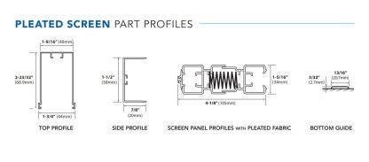 Pleated Custom Screen Profile