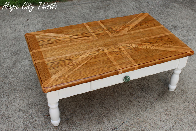 Two Tone Wood End Tables