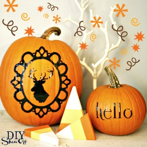pumpkin vinyl decal tutorial