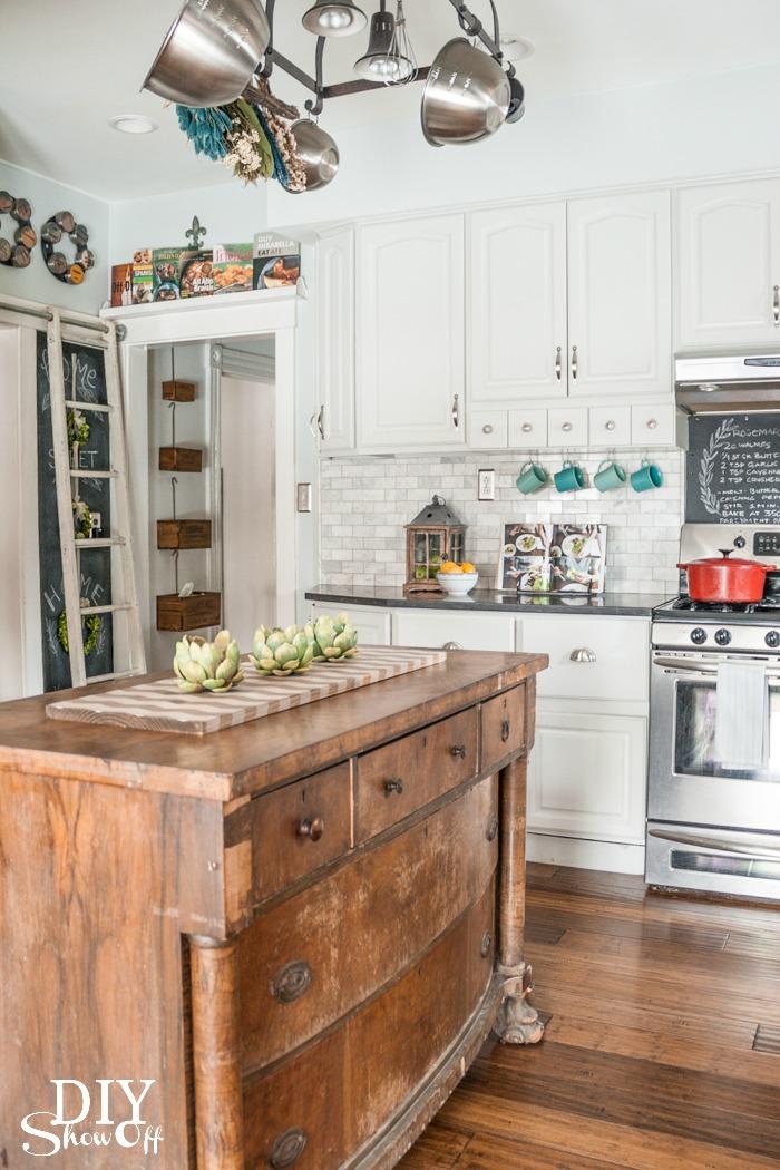 Eclectic Vintage Modern Farmhouse Kitchen DIY Show Off