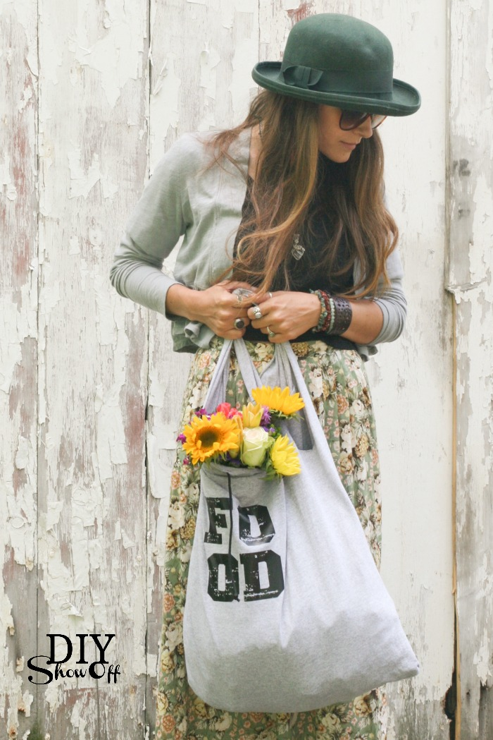 Eco-Friendly Products Sustainable Items DIY Market Tote Bag from Upcycled T Shirt