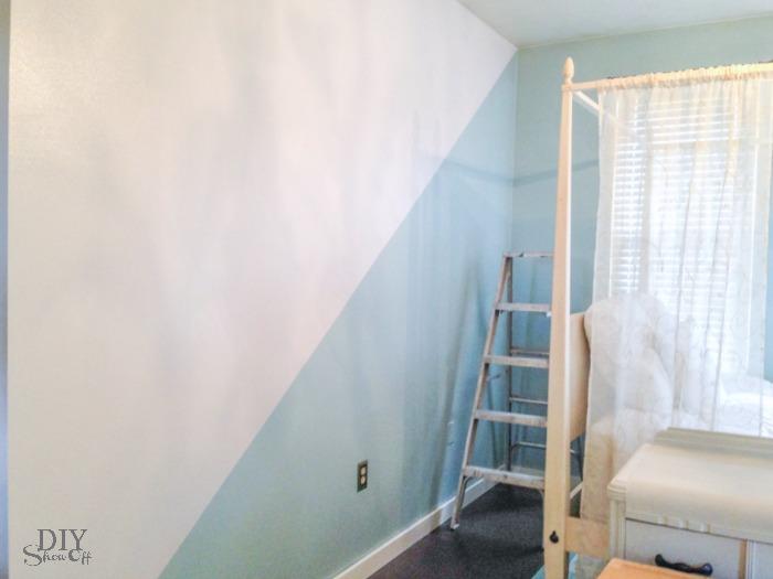 Guest Room/Nursery Diagonal Wall Paint Refresh