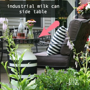 DIY industrial milkman side table @diyshowoff summer patio