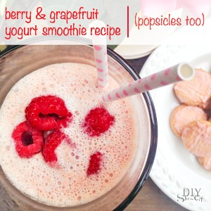 berry grapefruit yogurt smoothie @diyshowoff