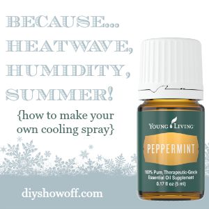Whew! It's HOT! Learn how to make your own cooling spray @diyshowoff