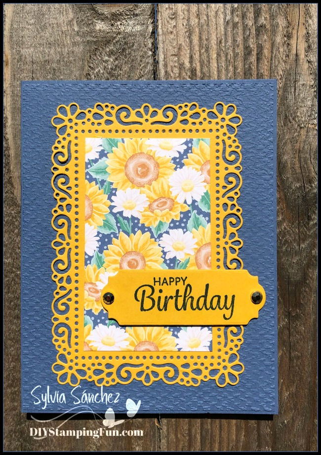 Stampin Up Here's A Card birthday card