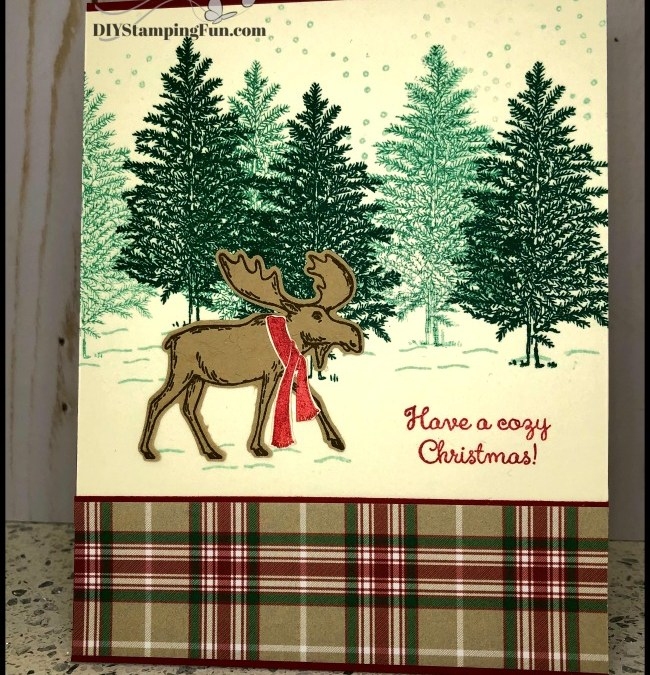 A Merry Moose Christmas card