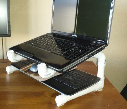 DIY PVC Dizüstü Bilgisayar Standı