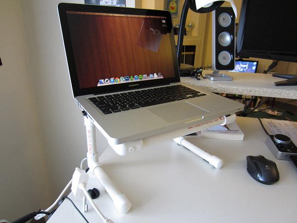DIY PVC Boru Dizüstü Bilgisayar Standı No. 2